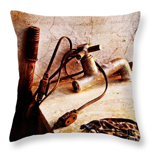 Abandoned Throw Pillow featuring the photograph Old Abandoned Tap by Prajakta P