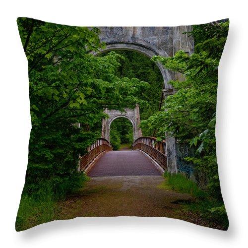 Bridge Throw Pillow featuring the photograph Old Alexandra Bridge by Rod Wiens