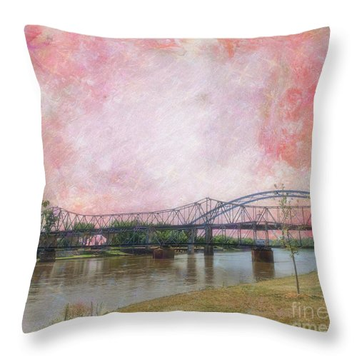 Old Amelia Earhart Bridge Throw Pillow featuring the photograph Old Amelia Earhart Bridge by Liane Wright