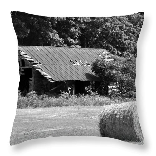 Old Barn Throw Pillow featuring the photograph Barn In Kentucky No 84 by Dwight Cook