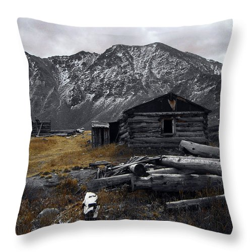 Mountain Throw Pillow featuring the photograph Old Boston Mine by Brian Kerls