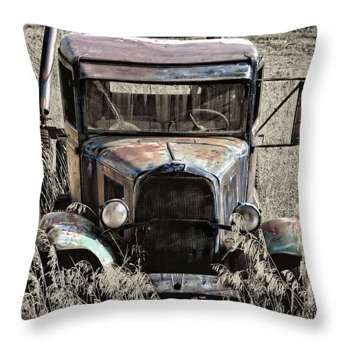 Vintage Throw Pillow featuring the photograph Old But Not Forgotten by Image Takers Photography LLC - Laura Morgan