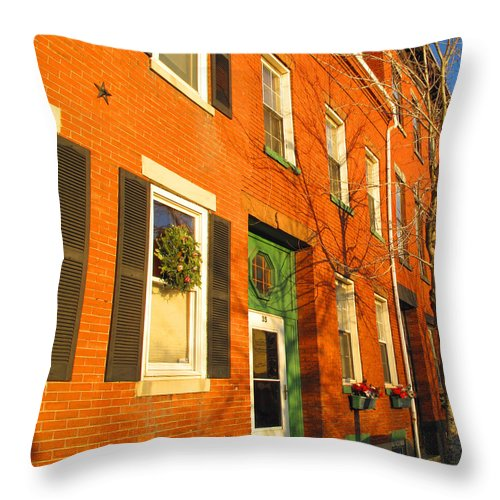 Cityscape Throw Pillow featuring the photograph Old Charestown Neighborhood by Barbara McDevitt