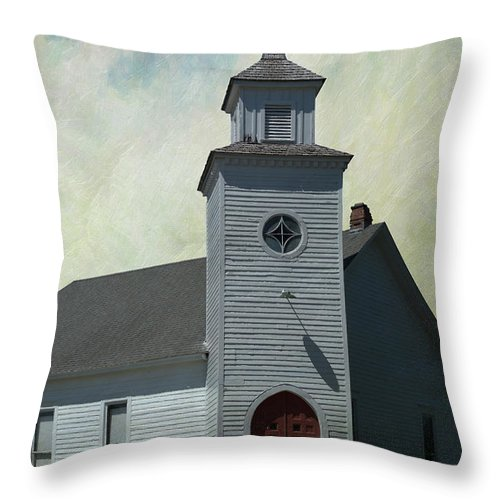 Old Country Church Throw Pillow featuring the photograph Old Country Church by Liane Wright