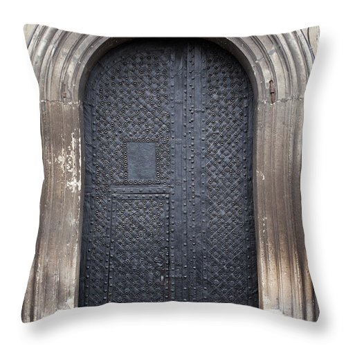 Gothic Style Throw Pillow featuring the photograph Old Door by Viktor gladkov