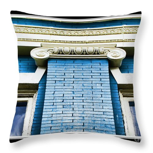 Arcitecture Throw Pillow featuring the photograph Old Elements I by Debbie Portwood