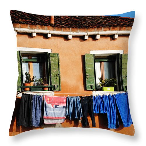 Murano Throw Pillow featuring the photograph Old Fashioned Way by Jacqueline M Lewis
