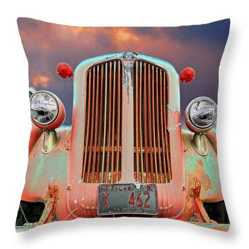 Truck Throw Pillow featuring the photograph Old Firefighter by Ron Day