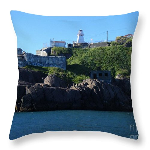 Old Fort Amherst Throw Pillow featuring the photograph Old Fort Amherst By Barbara Griffin by Barbara Griffin