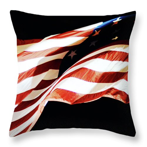 Old Glory Throw Pillow featuring the photograph Old Glory by La Dolce Vita