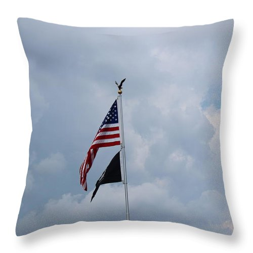 Throw Pillow featuring the photograph Old Glory by R A W M