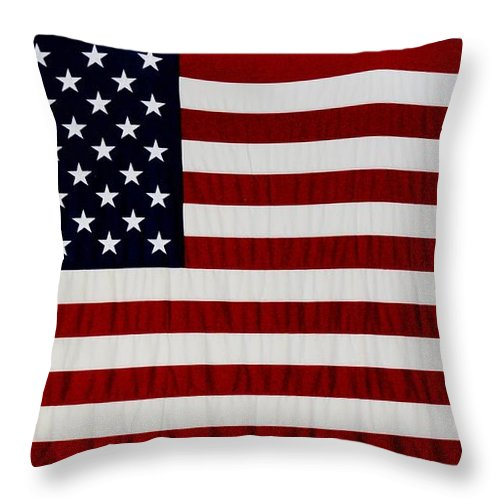 Americana Throw Pillow featuring the photograph Old Glory by Rob Hans