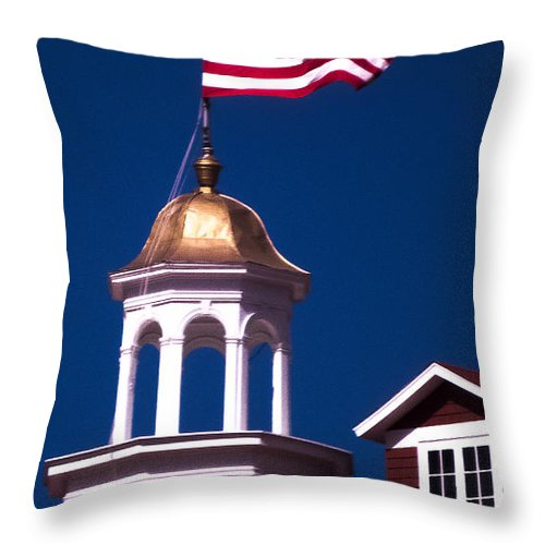 Old Glory Throw Pillow featuring the photograph Old Glory by To See Our World Photography