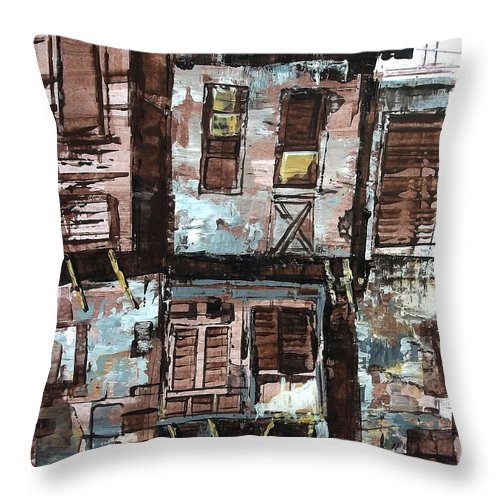Old House Throw Pillow featuring the painting Old Hopuse by Ramesh A R