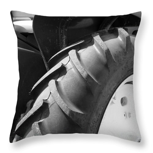John Deere Photos Throw Pillow featuring the photograph Old John Deere by Deborah Fay