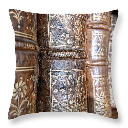 Bookcase Throw Pillow featuring the photograph Old Knowledge by Olivier Le Queinec