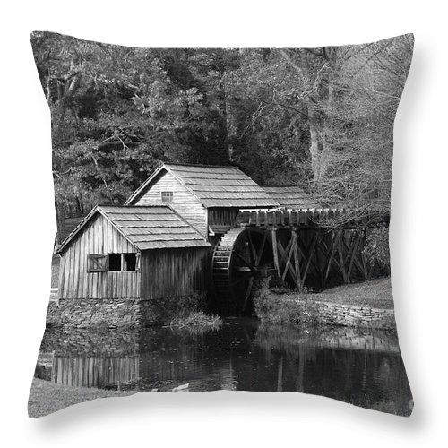 Virginia Throw Pillow featuring the photograph Virginia's Old Mill by Eric Liller