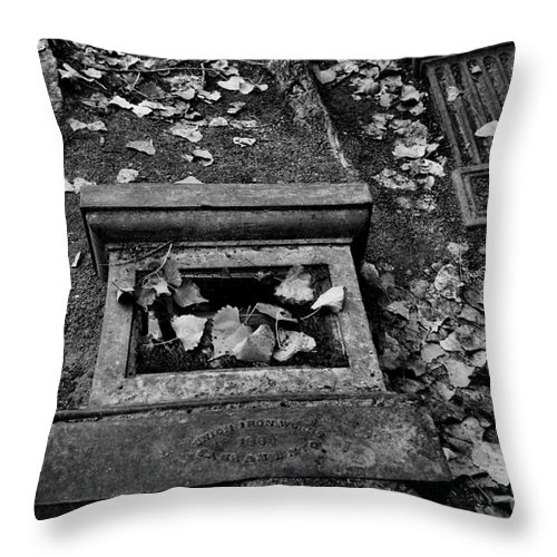 Monuments Throw Pillow featuring the photograph Old Monuments by Patricia Betts