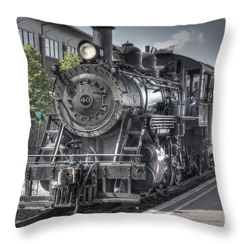 Train Throw Pillow featuring the photograph Old Number 40 by Anthony Sacco