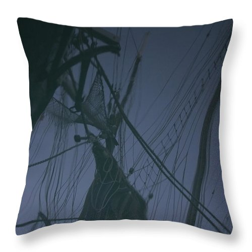 Black Throw Pillow featuring the photograph Old Sailing Ship Reflected by Ulrich Kunst And Bettina Scheidulin
