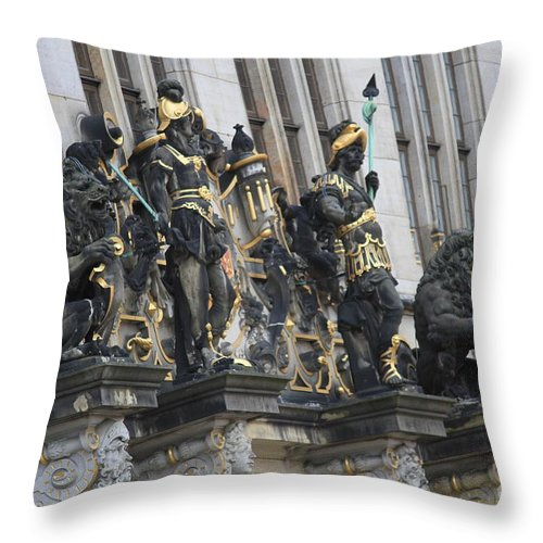 House Throw Pillow featuring the photograph Old Sculptures by Four Hands Art