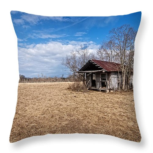 Andy Crawford Throw Pillow featuring the photograph Old Shotgun House by Andy Crawford