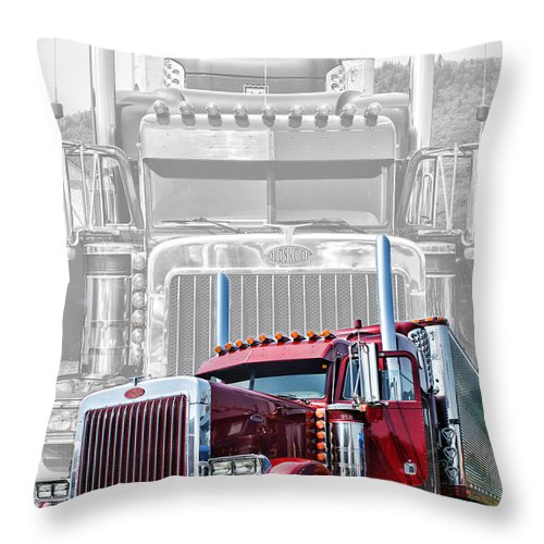Trucks Throw Pillow featuring the photograph Old Skool-double Pete by Randy Harris