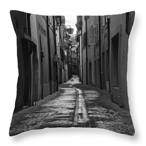 3200 Throw Pillow featuring the photograph Old Street by Alyaksandr Stzhalkouski