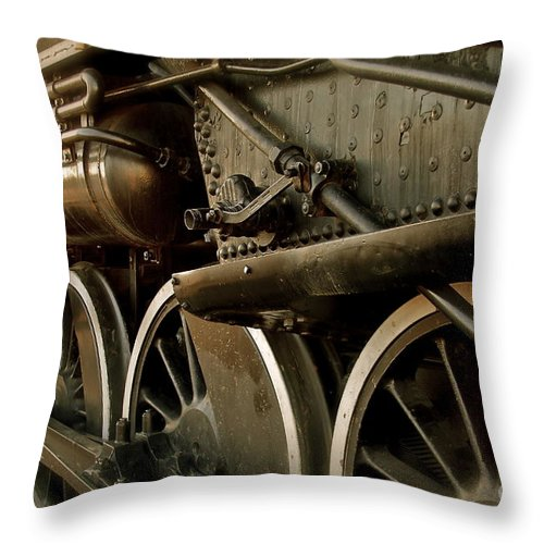 Train Throw Pillow featuring the photograph Old Timer by Rick Monyahan
