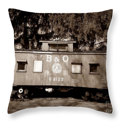 Train Throw Pillow featuring the photograph Old Timer by Sara Raber