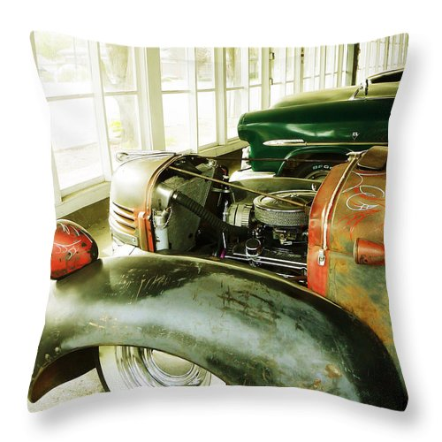 Classic Throw Pillow featuring the photograph Old Timers by Pamela Patch