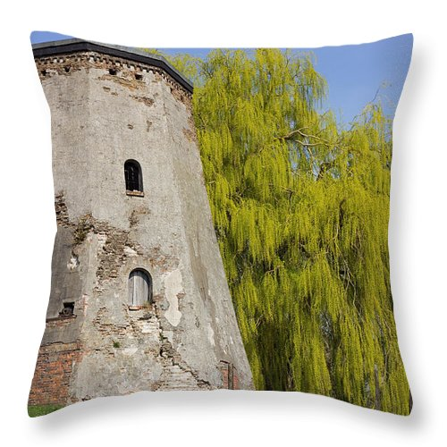 Medieval Tower Throw Pillow featuring the photograph Old Tower by Pati Photography