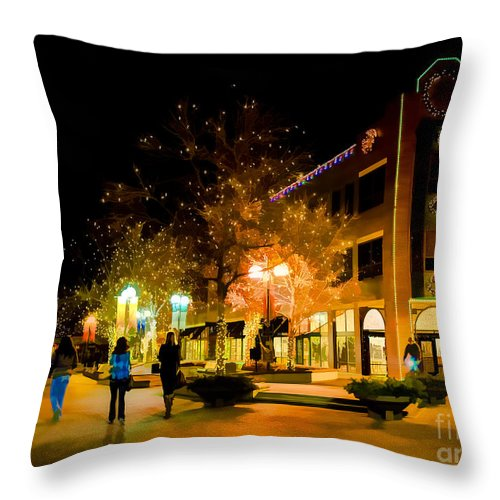 Old Town Throw Pillow featuring the photograph Old Town Christmas by Jon Burch Photography