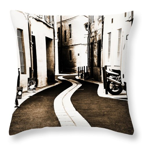 Urban Throw Pillow featuring the photograph Old Town Streams by Yevgeni Kacnelson