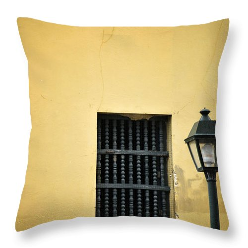 Window Throw Pillow featuring the photograph Old Town Window by Birgit Tyrrell
