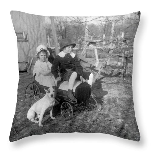 Old Toys Throw Pillow featuring the photograph Old Toy Car by William Haggart