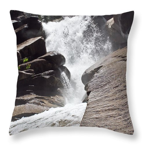 Water Throw Pillow featuring the photograph Old Wood Bridge by Brian Williamson