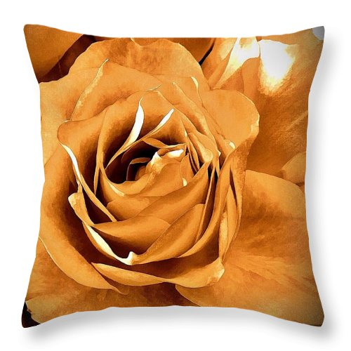 Old World Roses Throw Pillow featuring the photograph Old World Roses by Saundra Myles