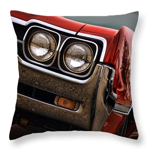 1966 Throw Pillow featuring the photograph Olds 442 - 1966 by Gordon Dean II
