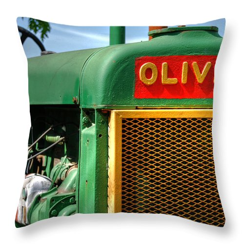 Oliver Throw Pillow featuring the photograph Oliver by Guy Harnett