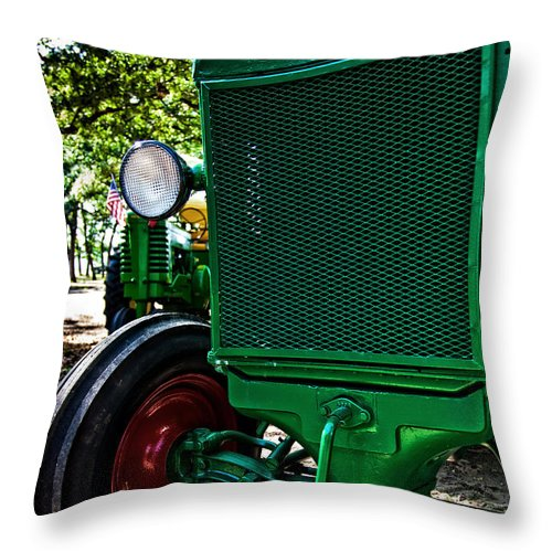 Tractor Throw Pillow featuring the photograph Oliver Tractor by Mark Alder