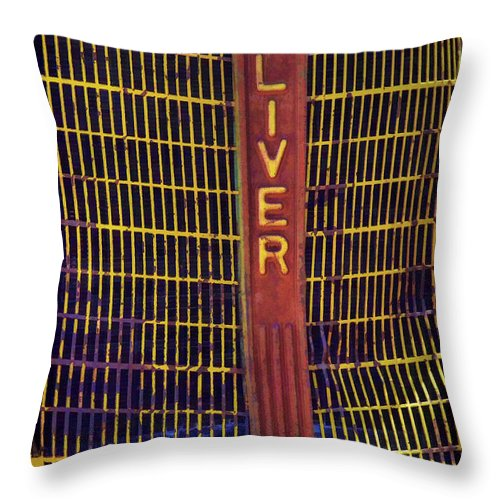 Vintage Tractor Throw Pillow featuring the photograph Oliver Twisted by Ken Smith