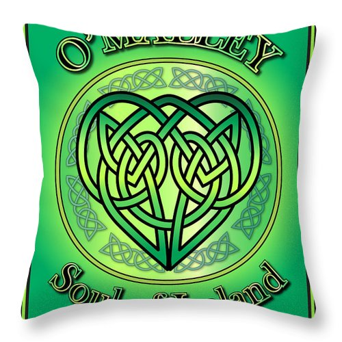 O'malley Throw Pillow featuring the digital art O'malley Soul Of Ireland by Ireland Calling