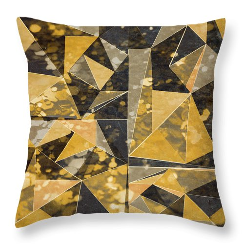Omg Throw Pillow featuring the digital art Omg Modern Triangles II by south Social Studio