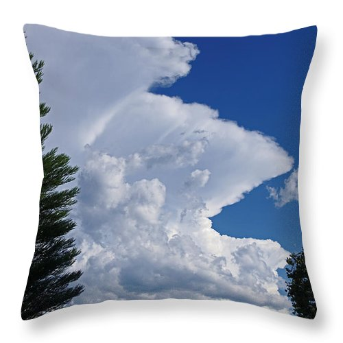 Ominous Throw Pillow featuring the photograph Ominous by Mick Anderson