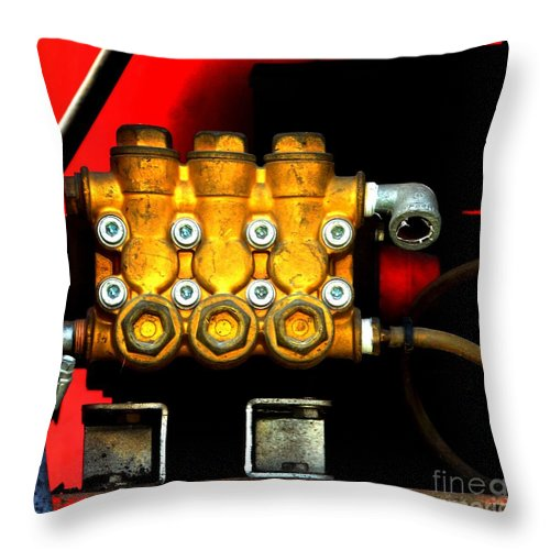 Newel Hunter Throw Pillow featuring the photograph On Hold by Newel Hunter
