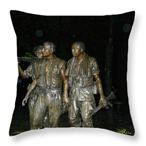 War Throw Pillow featuring the photograph On Patrol by Hugh Carino