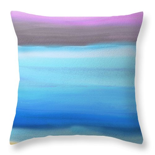 Abstract Throw Pillow featuring the painting On the Beach by Eliza Donovan