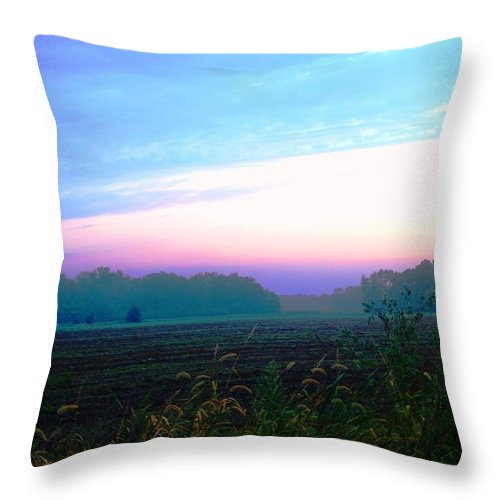 Throw Pillow featuring the photograph On The Edge Of A Storm by Daniel Thompson
