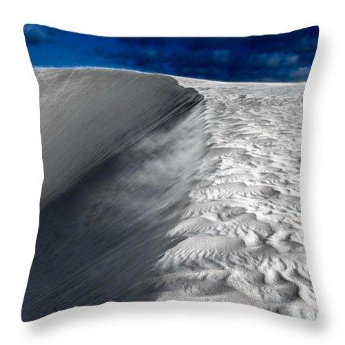 Desert Throw Pillow featuring the photograph On The Horizon by Julian Cook